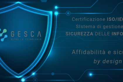 Gesca consegue la certificazione ISO/IEC 27001
