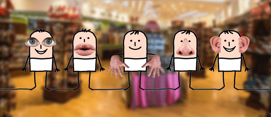 i 5 sensi nel retail