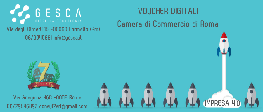 Voucher digitali impresa 4.0 Camera di Commercio di Roma